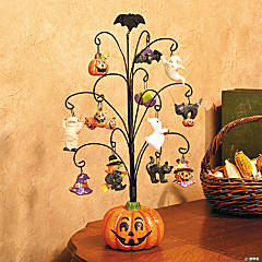Halloween Pumpkin Tree with Ornaments