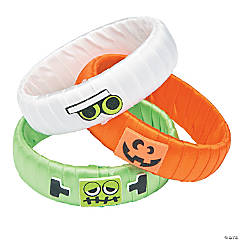 Halloween Ribbon-Wrapped Bangle Bracelet Craft Kit