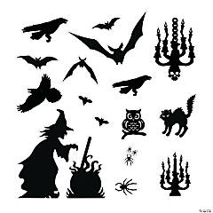halloween silhouette dcor kit - Halloween Window Clings