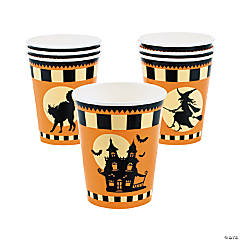 Halloween Silhouette Paper Cups