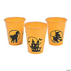 Halloween Silhouette Plastic Cups