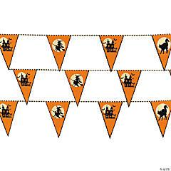 Halloween Silhouette Plastic Pennant Banner