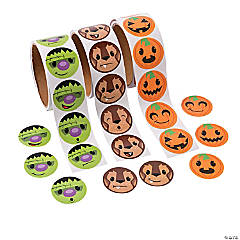 Halloween Stickers Faces Assortment