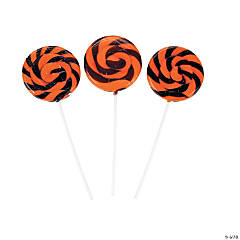 Halloween Swirl Lollipops