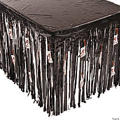 Halloween Table Skirt with Butcher Knife Cutouts