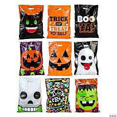 halloween trick or treat bag assortment - Halloween Treat Holders