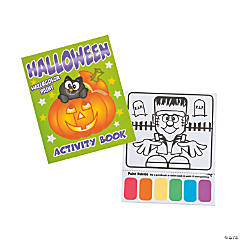 Halloween Watercolor Paint Activity Books