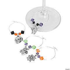 Halloween Wine Glass Charms Idea