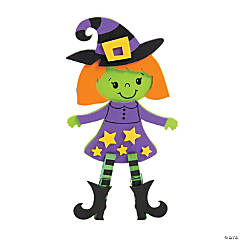 Halloween Witch Clothespin Craft Kit