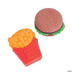Hamburger & Fries Erasers