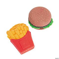 Hamburger & Fries Erasers