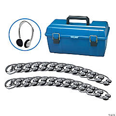 Hamilton Personal Headphone Lab Pack with Foam Ear Cushions, Pack of 24 with Carrying Case