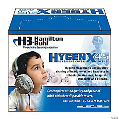 HamiltonBuhl HygenX Sanitary Ear Cushion Covers for Over-Ear Headphones & Headsets - 50 Pair