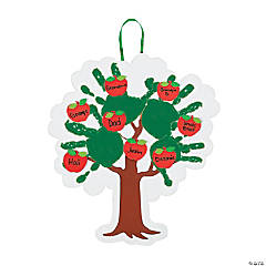 Handprint Apple Family Tree Keepsake Craft Kit