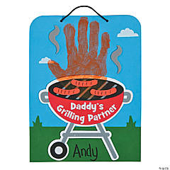 Handprint Grilling Partner Sign Craft Kit