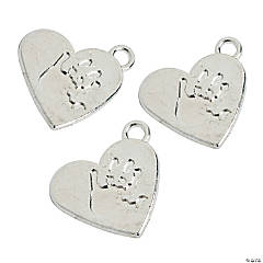 Handprint Heart Charms
