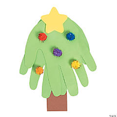 Handprint Tree with Pom-Poms Craft Kit