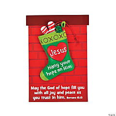 """Hang Your Hope on Him"" Christmas Ornaments with Card"