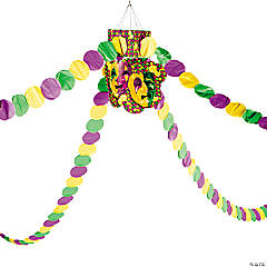 Hanging Mardi Gras Beads Decoration