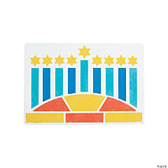 Hanukkah Celebration Sand Art Sheets