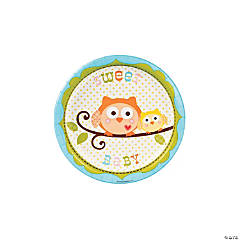 Happi Tree Sweet Baby Boy Paper Dessert Plates