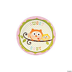 Happi Tree Sweet Baby Girl Paper Dessert Plates