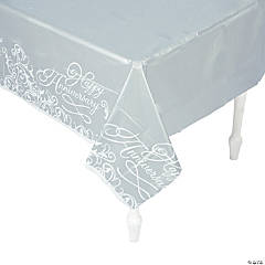 Happy Anniversary Plastic Tablecloth