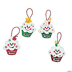 Happy Birthday Jesus Cupcake Ornament Craft Kit