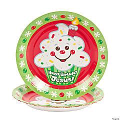 """Happy Birthday Jesus!"" Paper Dessert Plates"