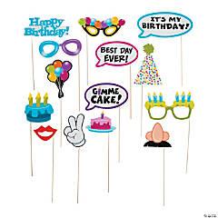 Happy Birthday Photo Stick Props