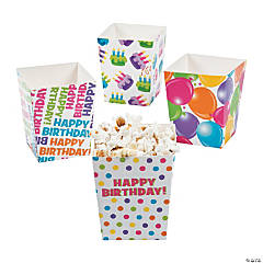 Happy Birthday Popcorn Boxes