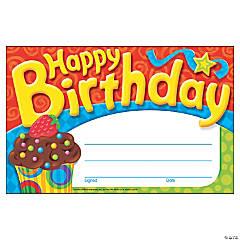 Happy Birthday The Bake Shop™ Award Certificate - 30 per pack, 12 packs