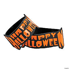 """Happy Halloween"" Big Band Bracelets"