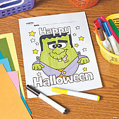 Happy Halloween Frankie Free Printable Coloring Page