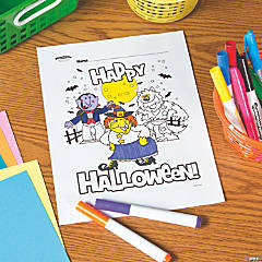 Happy Halloween Free Printable Coloring Page