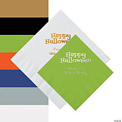 Happy Halloween Personalized Beverage and Luncheon Napkins