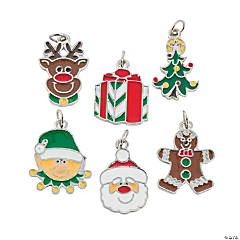 Happy Holidays Enamel Charms