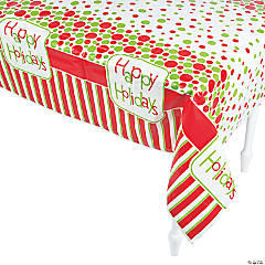 Happy Holidays Tablecloth