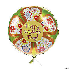"""Happy Mother's Day"" Flower Mylar Balloons"