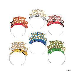 """Happy New Year"" Bright Tiaras"