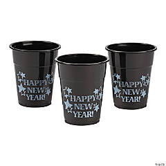 Happy New Year Plastic Cups