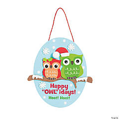 "Happy ""OWL""idays Sign Craft Kit"