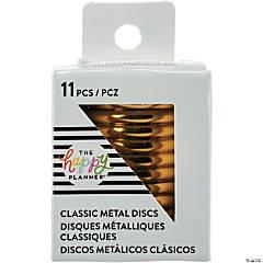 Happy Planner Medium Metal Expander Discs 11/Pkg-Gold