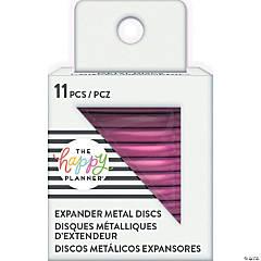Happy Planner Metal Expander (Big) Discs 11/Pkg-Hot Pink