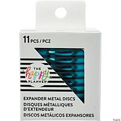 Happy Planner Metal Expander (Big) Discs 11/Pkg-Teal