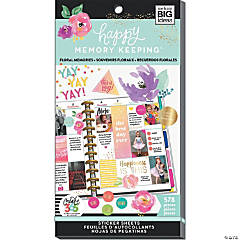 Happy Planner Sticker Value Pack-Floral Memories, 578/Pkg