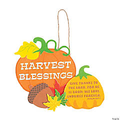 Harvest Blessings Sign Craft Kit