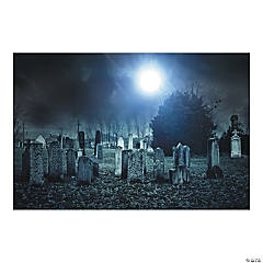 Haunted Cemetery Backdrop Banner
