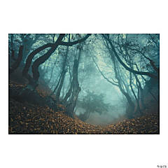 Haunted Forest Backdrop Banner Halloween Décor