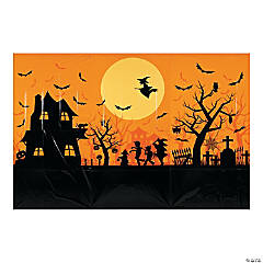 Haunted House Classic Backdrop Halloween Décor